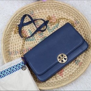 Tory Burch Blue Chelsea Crossbody Bag